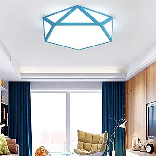 SXFYWYM plafondlamp, LED, hol, geometrisch, kleur kroonluchter, materiaal: acryl, met afstandsbediening traploos dimbaar, voor kinderen, slaapkamer, kantoor, woonkamer, studio, verlichting