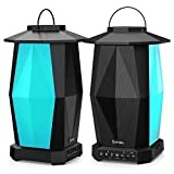 Onforu Outdoor Bluetooth Speakers, 2 Pack 25W Wireless Speakers, Multiple Speakers Pairing Supported, IPX5 Waterproof Patio Speakers with LED Mood Lights for Yard, Garden, Camping, Christmas
