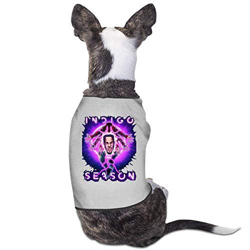 FETEAM Disfraz de Chris Brown Dogs Gatos para Perros pequeos y medianos Camisa para Mascotas Sudaderas con Capucha Vestir Ropa Divertida para Mascotas Gatito Cachorro