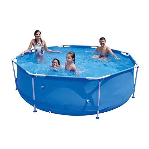 SOHOH Oberirdischer Pool, Metallrahmen-Außenpool Planschbecken Schwimmbad Für Familien-Außenpool (11.8Foot X 30In)