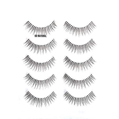 ALICE Lashes 110 Natural Hand Knotted False Eyelashes 5 Pairs Multipack