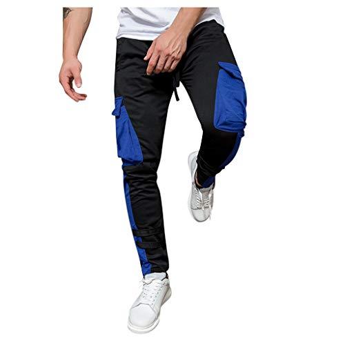 Gooauny Fashion Camouflage Hose Männer Hosen Freizeithosen Jogginghose Cargohose Trainingshose Sweatpants mit Gummizug Herren Freizeithose Sommerhosen