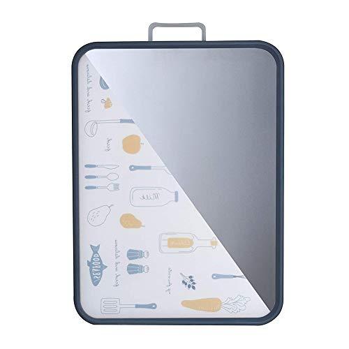 Tabla de Cortar, Tablas para Picar Antibacterial Multifuncional Panel de Acero Inoxidable Sin BPA, Resistencia a Altas Temperaturas, Resistente al Desgaste, Antideslizante