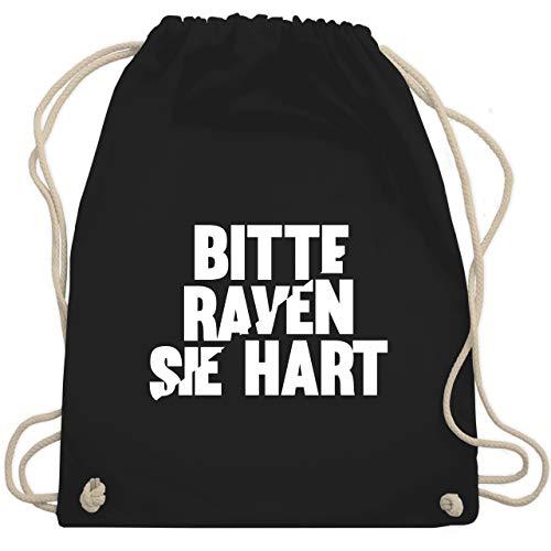 Festival Turnbeutel - Bitte Raven Sie hart - Unisize - Schwarz - bitte raven sie hart - WM110 - Turnbeutel und Stoffbeutel aus Baumwolle