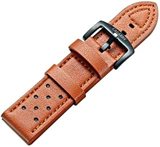 Beautiful Watches, Simple Fashion Watches Band Green Buckle Leather Watch Strap, Width: 24mm