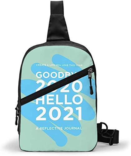 Goodbye 2020 Hello 2021 Sac à bandoulière pour homme et femme Résistant à l'eau