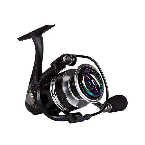 Kingdom Spinning Carrete de pesca – ligero y suave, línea de lanzamiento de aluminio premium, rodamientos de bolas 9+1 – Carretes giratorios para pesca de hielo y agua dulce