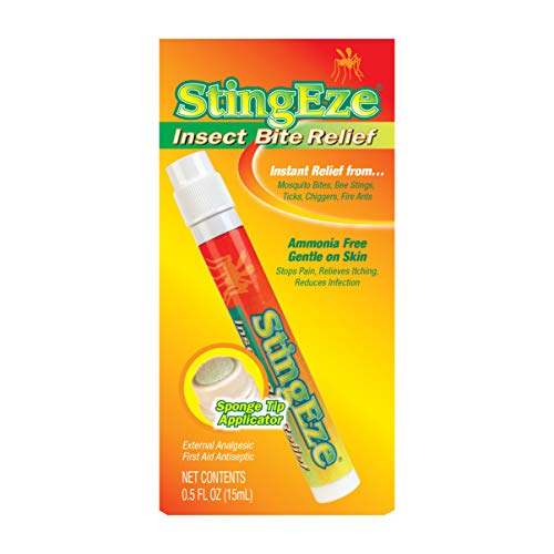 StingEze Original Insect Bite Itch Relief Dauber, 0.5 Ounce, Black (3310)