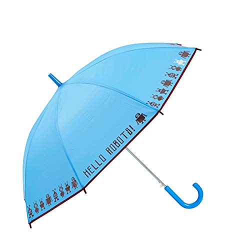 GOTTA Paraguas Infantil niño/niña. Antiviento y automático. Estampado Robots - Azul