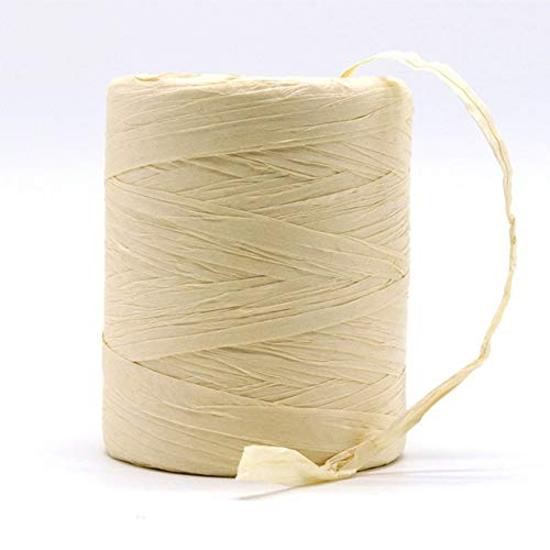 DINGM Hilo de Rafia Natural Crochet a Mano Bolso de Rafia Plegable Sombrero Moda Verano Cuerda de Cinta de Rafia para Tejer a Mano Sombreros de Paja de Rafia