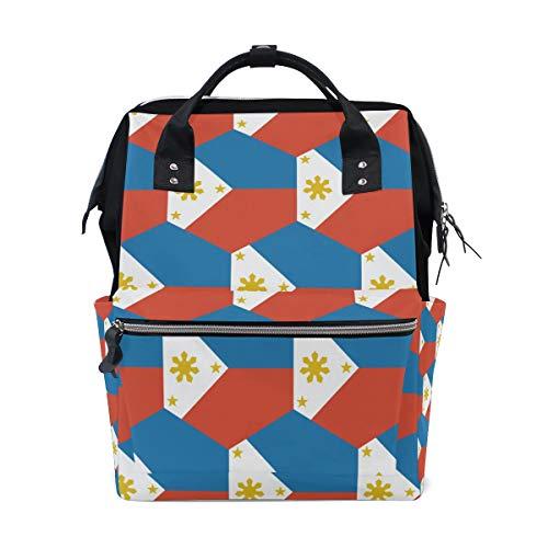 Bolsa de viaje con la bandera de Filipinas, para el cuidado del bebé, gran capacidad
