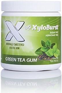 XyloBurst 100% Xylitol, Natural Chewing Gum, 100 Count Jar Non GMO, Vegan, Aspartame Free, Sugar Free (Green Tea, 1 Jar)