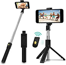 SYOSIN Selfie Stick, 3 in 1 Extendable Selfie Stick Tripod with Detachable Bluetooth Wireless Remote Phone Holder Compatible with iPhone and Android Smartphone