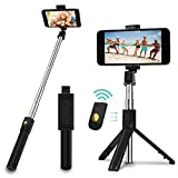 SYOSIN Selfie Stick Stativ, 3 in 1 Mini Selfiestick mit Bluetooth-Fernauslöse Handy Erweiterbarer Selfie-Stange & Tragbar Monopod Handyhalter für iPhone/Samsung/Huawei IOS & Android