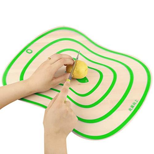 Tabla de Cortar Transparente Flexible Tablas de Cortar de PP de Cocina Clasificación Bloques de Cortar 4 Colores - Verde, M