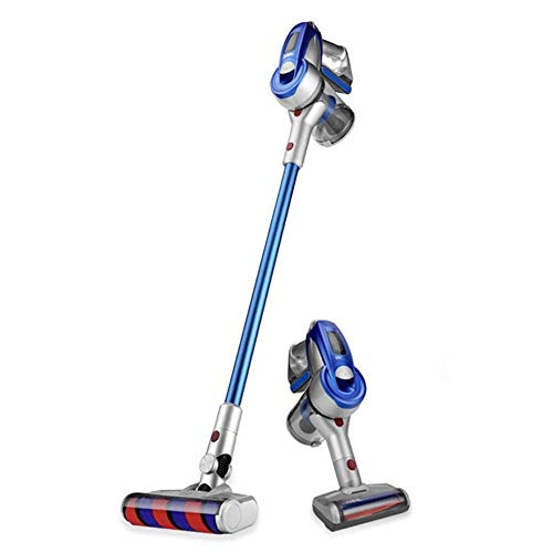 ALYHYB Inalámbrico Aspirador inalámbrico palillo de aspiradoras de succión de 60 Minutos Tiempo de ejecución Azul casa Inteligente Aspiración (Color: Azul, tamaño: un tamaño) huangcui