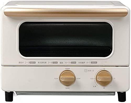 Mini horno, 1000W, función de aire circulante de Rotisserie, temporizador, calentador superior e inferior, Temporizador compacto de cocina, 8L / 12 L Horno eléctrico mini con encimera, rosa, 8L 30min