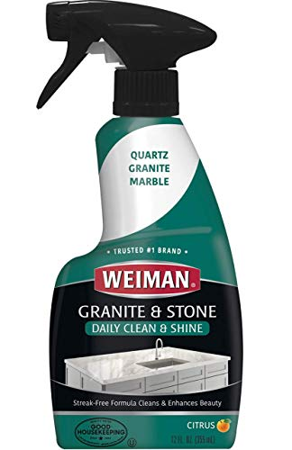 Our #5 Pick is the Weiman Granite Cleaner and Polish