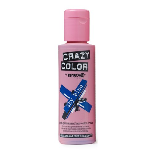 Crazy Color Crema Colorante Vegetale per Capelli , Sky Blue - 100 ml