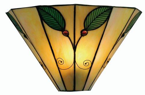 Oaks Lighting Applique murale style Tiffany Feuilles