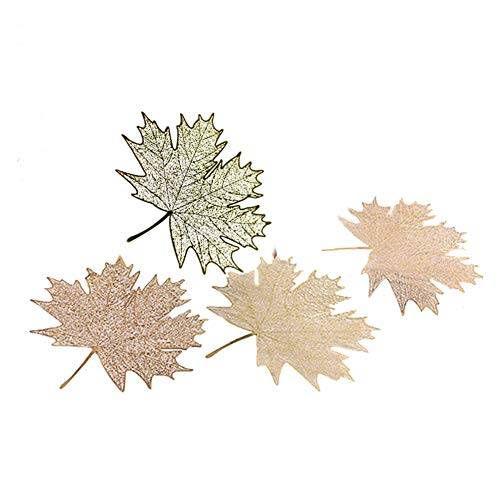 4 Pcs Maple Bookmarks Metal Bookmarks Hollow Maple Leaves Bookmark Vintage Bookmark Chinese Style Maple Leaves Bookmark Ideal for Adults Kids Friends Family