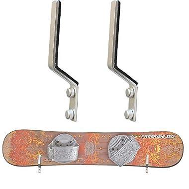 YYST Snowboard Storage Rack Display Rough Wall Mounted Storage Rack - Fit most snowboards (No thicker than 30MM)
