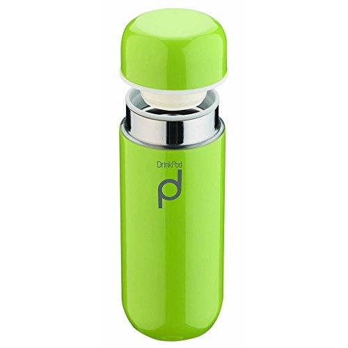 DrinkPod HCF-200G Gourde, Acier Inoxydable, Green, 200 ml