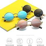 Gafas de sol polarizadas redondas retro negro/plata/oro gafas de sol conducción hombres y mujeres correr pesca vapor punk viento (color: negro)