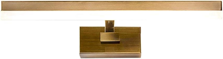 ZHAS Badezimmerspiegellampen, Wand-Anzeigen-Beleuchtungs-europisches Art-Badezimmer-Eisen-LED-Spiegel-Vorderlicht - Moderne Art- und Weisewasserdichte beschlagfreie Acrylspiegel-Kabinett-Lampen-