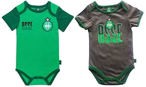 AS Saint Etienne 2 x Body ASSE - Official Collection Size baby boy 3 months
