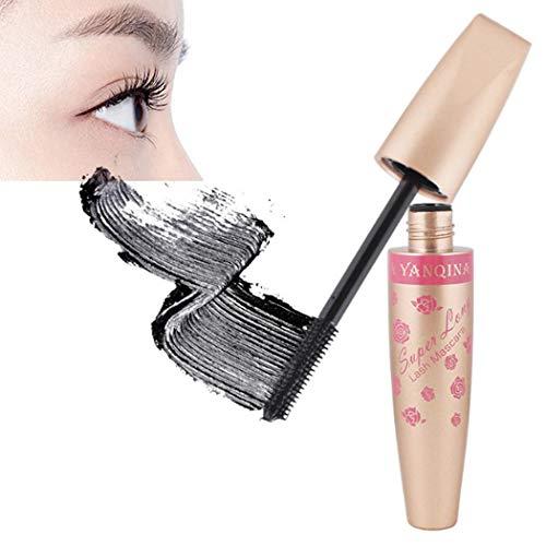 Máscara de Pestañas Alargador de Pestañas Impermeable de Duradero Rimel Negro Maquillaje