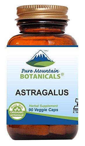 Astragalus Root Capsules - 90 Kosher Vegan Caps...