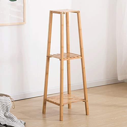 ZHEYANG Soporte para plantas de bambú creativo de múltiples capas para balcón, macetas, estante de flores (32,5 x 32,5 x 99 cm) regalos para esposa (color: B, tamaño: L)