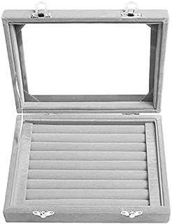 Velvet Jewelry Box, 20 * 15cm, Grey