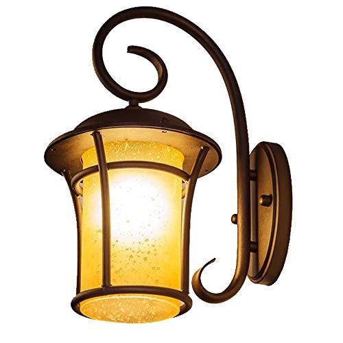 Vintage American Buiten Muur Lantaarn Waterdicht, smeedijzer Lamp van het glas, for Exterieur Licht Patio, Voordeur, Backyard, Garage