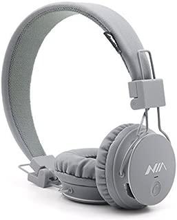 Kids Wireless Bluetooth 4.2 Headphones, GranVela X2 Lightweight Retro Foldable Multifunction Headphones with FM Radio, TF Card Mp3 Player and Microphone (Grey)