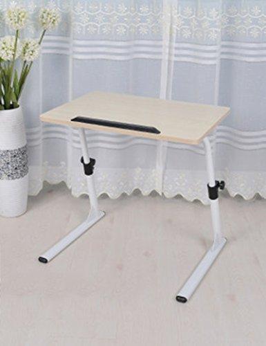 Feifei MDF Hauteur réglable Tables d'ordinateur Portable Lit Côté canapé Apprentissage Bureau économiser de l'espace (Couleur : 4)