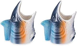 Under The Sea Aquatic Tropical Fish Ceramic Tiki Mugs - Set of 2