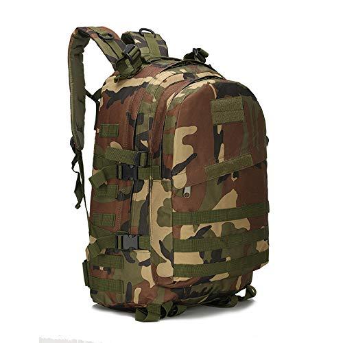 QXbecky Camouflage sac tactique étanche Jedi survie poulet sac à trois niveaux sac à dos hommes sac à dos alpinisme épaule jungle camouflage 33x18x46cm