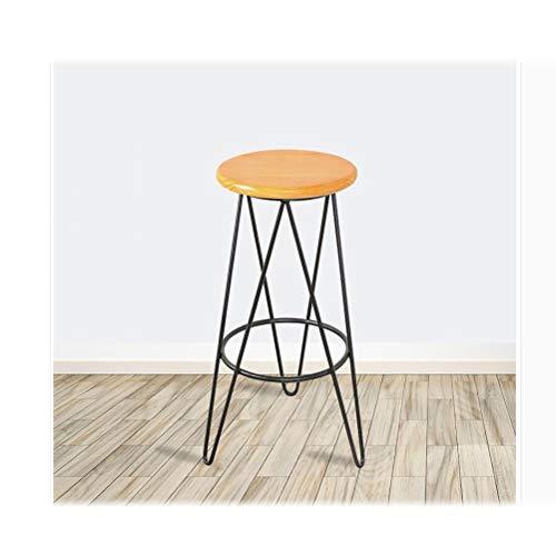 LRZS-Furniture Café Longue Table De Lait Thé Boutique Haut Pied Bar Mur De Fer Art Bar Table Chaise Ménage Petite Table en Bois Massif Personnalisé (Couleur : Noir)