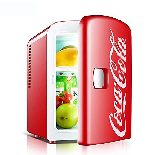 FHKBQ Mini Nevera, Nevera de encimera, Nevera de Coche Coca-Cola, Caja de refrigeración y calefacción para Estudiantes de Dormitorio de casa de refrigeración