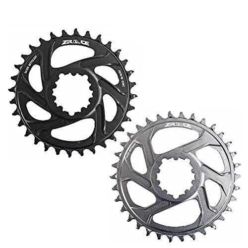 MENGGOO 1 x 12S Cadenas de Bicicletas, 28/30/32/34 / 36T Offset 6mm, Cadena de Bicicleta MTB para la manivela de Montaje Directo Fit for SRAM, águila Compatible (Color : 30T Black)