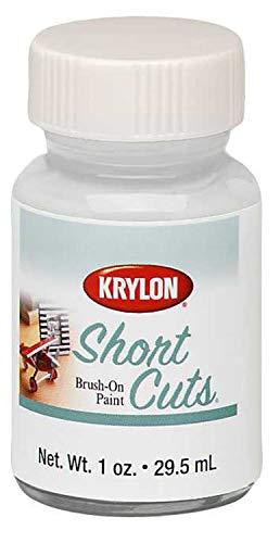 Krylon KSCB025 Short Cuts Brush-On Paint, Gloss White, 1 Ounce
