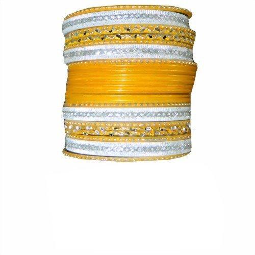 Indische Bangles 24 Armreifen Lovely Gold 7 cm mit Bindis Bollywood Sari Schmuck