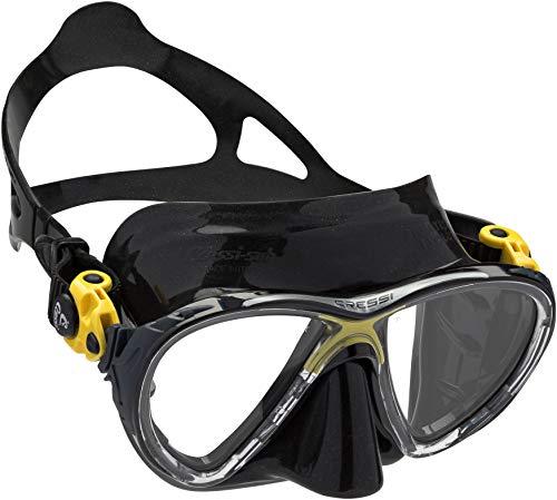 Cressi Big Eyes Evolution Tauchmasken, Schwarz/Gelb, Eine Größe