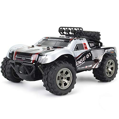 yanzz Coche Todoterreno con Control Remoto, Camiones Bigfoot RC 4x4 de Alta Velocidad de Escalada de 2.4G, vehículo RC Todoterreno 2WD con Motor 260 niños