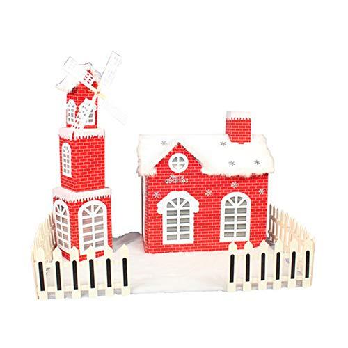 fang zhou Quemador de Incienso de Cabina de Navidad Fina, decoración de Chimenea Material de cartón Hecho a Mano Casa de Nieve, Adecuado para Decoraciones de Sala de Estar de Dormitorio de Regalo