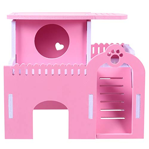 iplusmile Suministros para animales Hamsters Hideout House Petit Animal Hut Play Toy Platform Nest Hamster Plaything