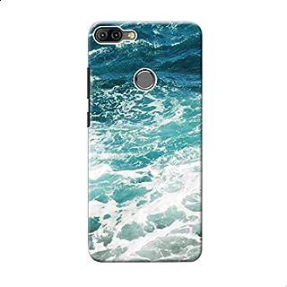 Back Cover Blue Ocean Waves For Xiaomi Mi 8 Lite - Multi Color