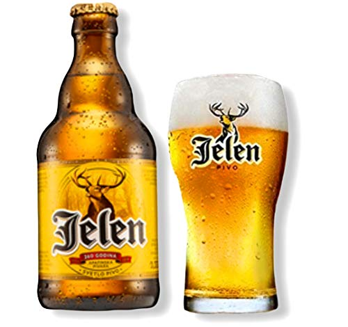 12 Flaschen 0,33l Jelen Bier aus Serbien mit 5% Alc.